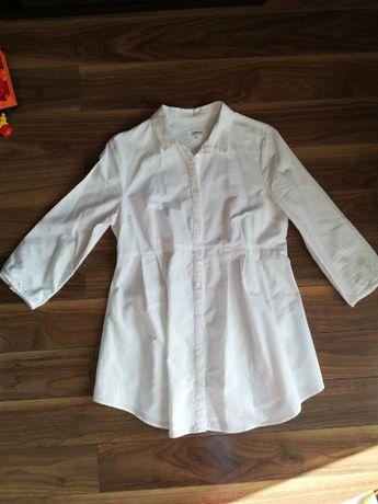Elegancka biała koszula/ bluzka ciążowa r.38