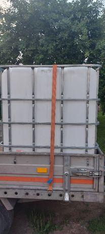 Zbiornik na wode mauzer 1000L na palecie 10szt. Polecam.