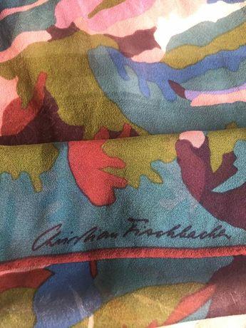 Яркий брендовый шелковый шарфик CHRISTIAN FISCHBAC