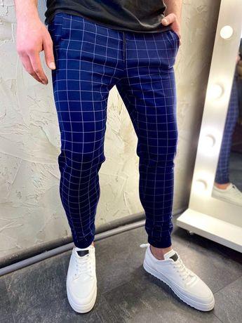 Стильные мужские класические брюки/штаны. В клетку/полоску. Турция