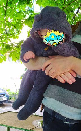 человечки теплые комбинезоны Картерс Деми Арлекин 3-6 месяцев