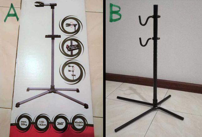 Suportes e ferramentas para manutenção/reparação de bicicleta