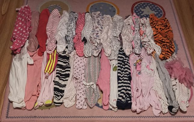 Pajacyk pajacyki śpiochy śpioszki piżamka rozmiar 62-68