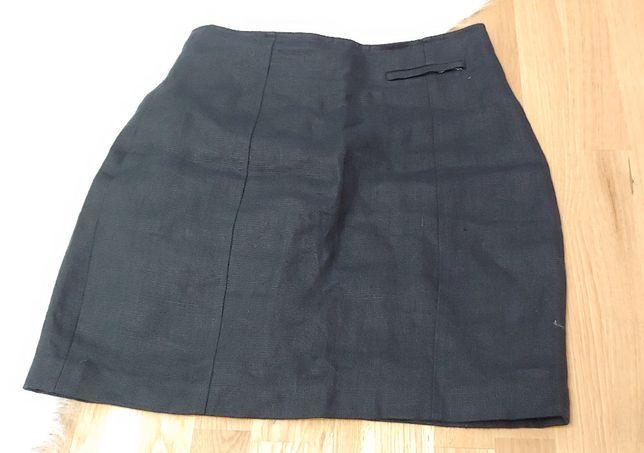 Granatowa spódnica lniana Hirsch rozm. M