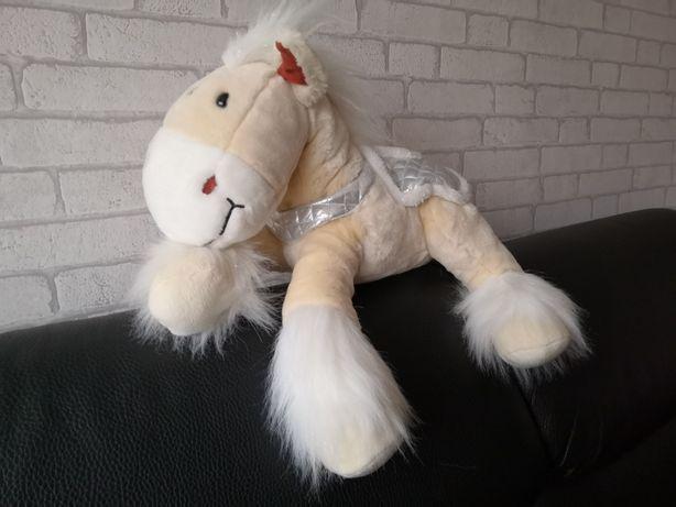 Duży piękny koń - kucyk- kremowo srebrny - NOWY