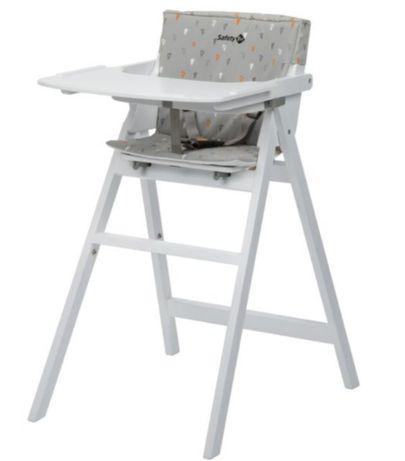nowe białe drewniane krzesełko do karmienia Safety 1st Nordik