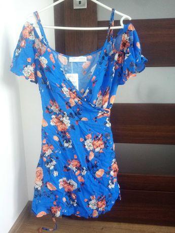 Sukienka sugarfree 38 M kwiecista wiosna lato zwiewna elegancka zara