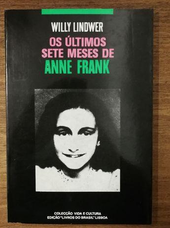 os últimos sete meses de anne frank, willy lindwer, livros do brasil