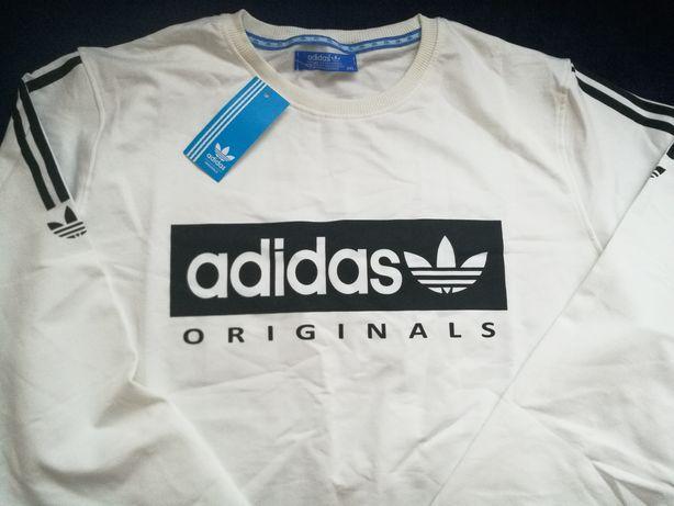 kremowa bluza adidas