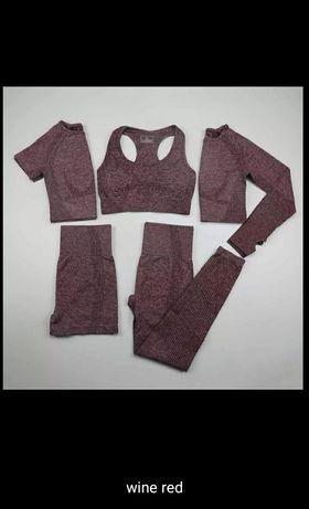 Спортивный комплект для йоги, спортивная одежда для фитнеса