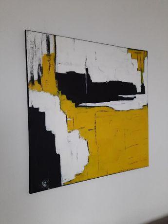 Obraz ręcznie malowany 80/80 plotno akryl abstrakcja nowoczesny