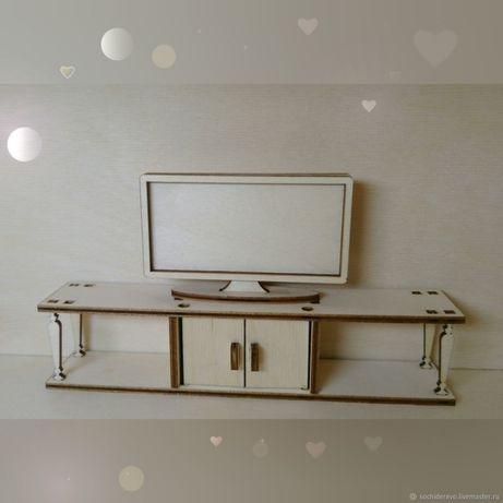 Кукольная мебель Телевизор с полкой