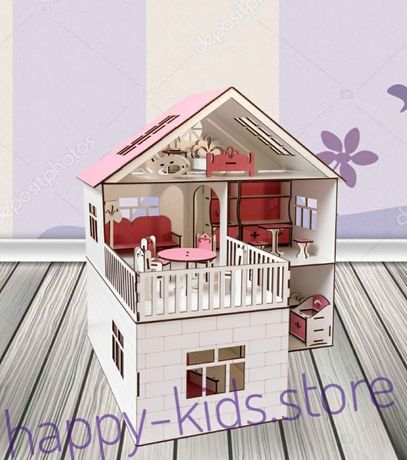 Кукольный домик для кукол Лол и других. Мебель 20 единиц в подарок!