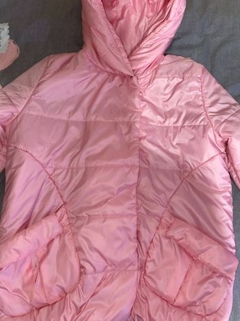 Розовая осенняя женская куртка