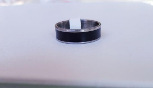 Obrączka srebrna z czarnym# rozmiar 11