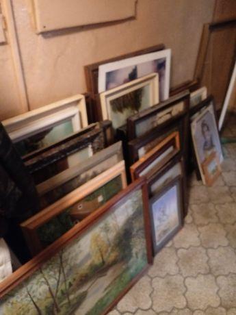 Obrazy olejne z ramami