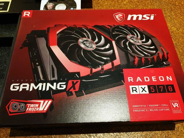 Placa Gráfica: MSI GamingX RX570 4GB