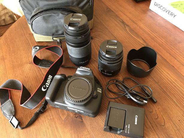 Canon EOS 1200D (conjunto com 2 objetivas + mala transporte)