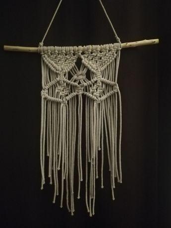 Wisząca makrama z sznurka bawełnianego 5mm