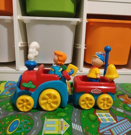 Заводной,развивающий Поезд,Потяг,игрушка Каю Cаillou