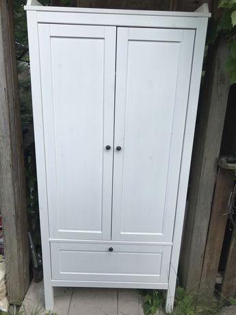 Szafa drewniana Ikea Sundvik biała bejca 80x50x171 cm