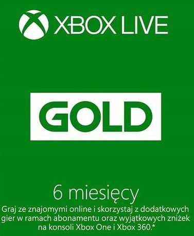 Xbox LIVE GOLD + GAME PASS 6 Miesięcy