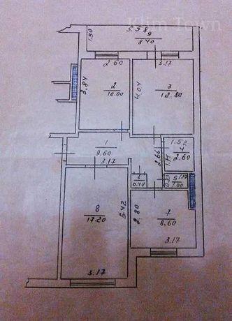 Продається 3 кімнатна квартира в Переяславі на Леваді