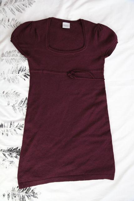 sukienka NEXT 50% merino w ładnym śliwkowym kolorze rozmiar L