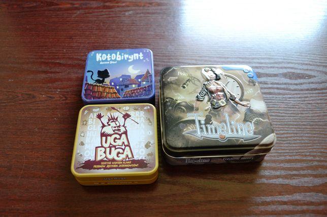 Timeline Uga-Buga Kotobirynt gry REBEL metalowe pudełka