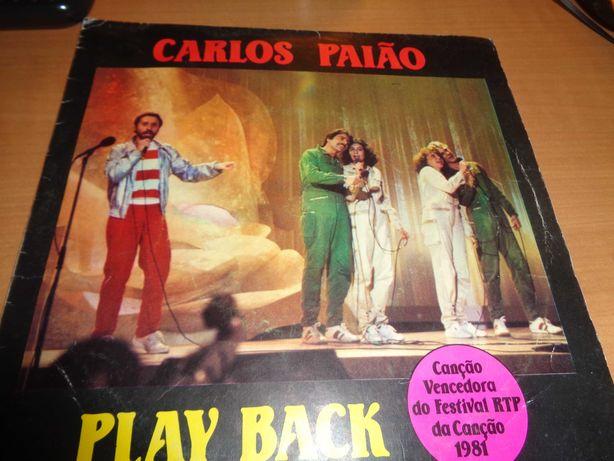 Disco Vinil Single Carlos Paião Play Back Oferta do Envio