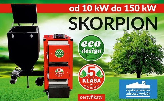 Kotły piec co 5 Klasa od Producenta Pleszew 35 kW