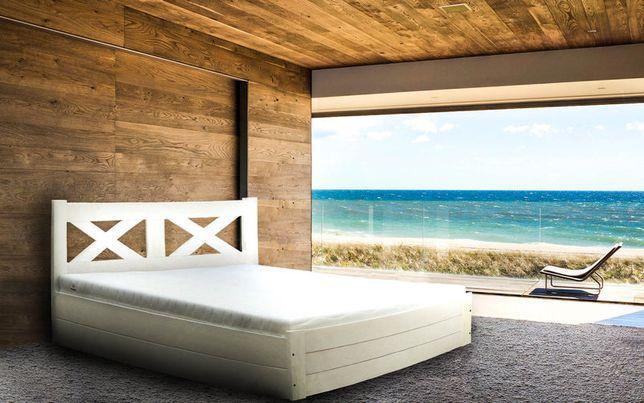 LUNA 160x200 łóżko z podnoszonym stelażem drewniane duży pojemnik