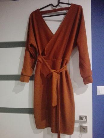 Nowa karmelowa sukienka