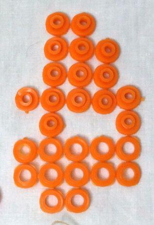 Кольца пластиковые для верёвки для шторки