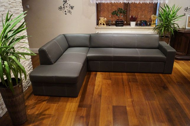 Skórzany narożnik 185x270 SKÓRA naturalna, rogówka sofa PRODUCENT