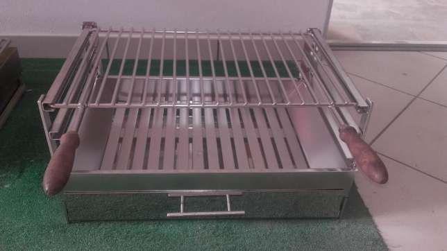 grelhador inox 50 cm grelha churrasqueira