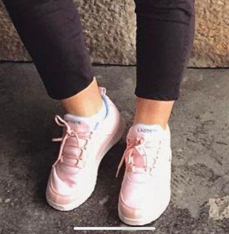 Sapatilhas Lacoste rosa bebé