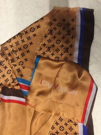 Louis vuitton chusta szal apaszka silk duża jedwab