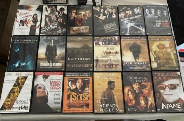Vários filmes em dvd.