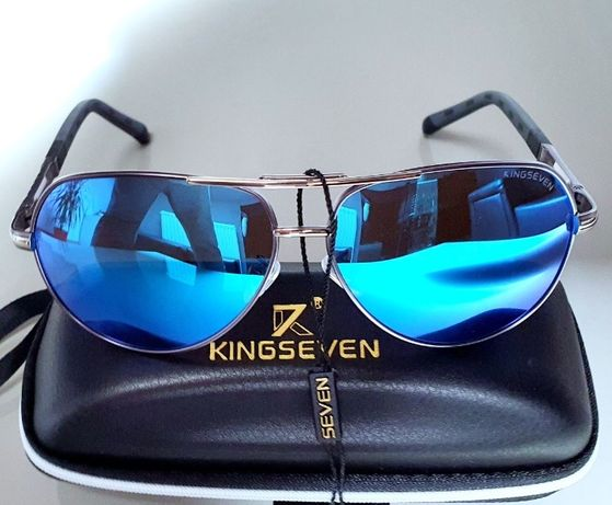 Okulary przeciwsłoneczne Aviator pilotki KINGSEVEN UV400 polaryzacje