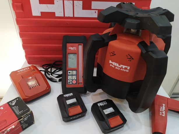 Hilti PR 30-HVS niwelator laserowy że spadkami 2xaku polecam