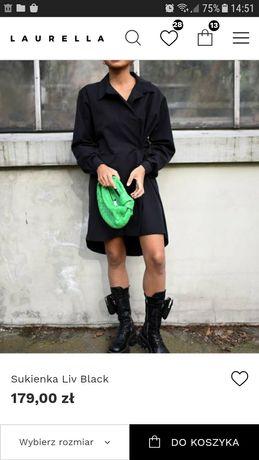 Laurella sukienka Liv Black rozmiar XS nowa