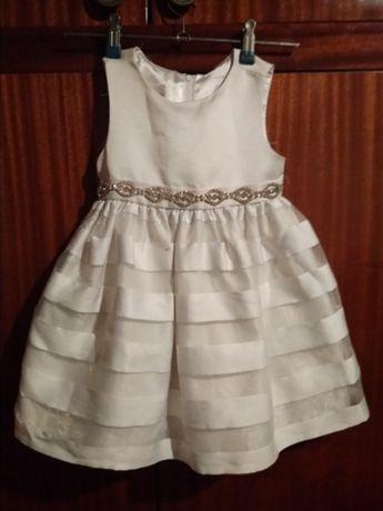 Odświętna Elegancka Sukienka Święta Wesele Chrzest