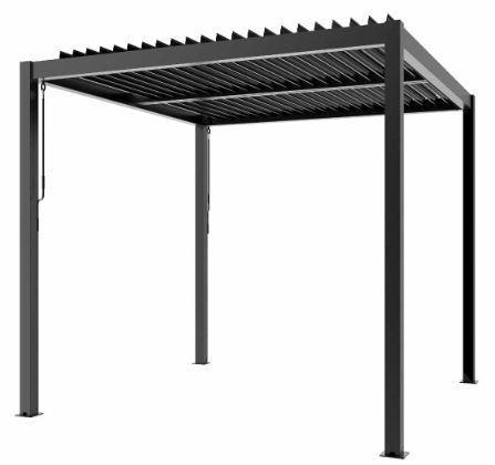 Taras metalowy zadaszenie pawilon ogrodowy altana altanka pergola 4x3