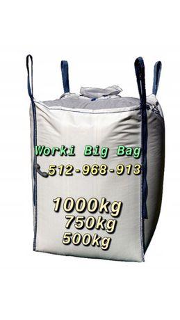 Worki BIG BAG BEG BAGS z wkładem foliowym na geuz mocne 140 cm