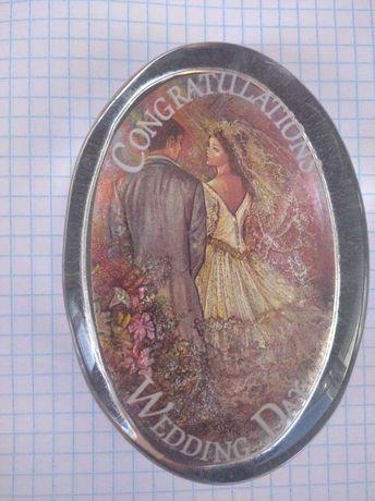 Стеклянный сувенир Congratulation Wedding Day. Англия