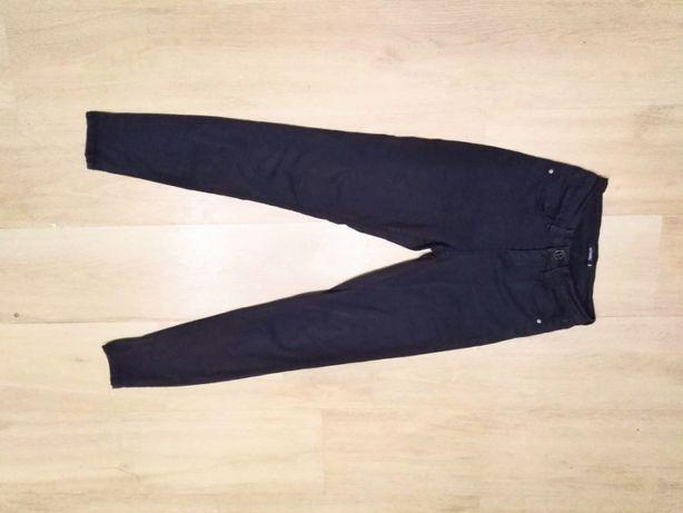 XXS 32 Sinsay czarne spodnie rurki skinny wysoki stan