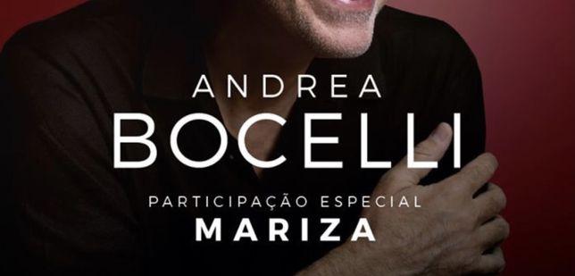 2 bilhetes Andrea Bocelli - Bancada Superior - 25 de junho