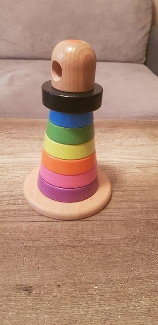 Drewniana układanka, wieża Ikea