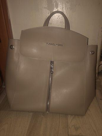 Рюкзак-сумка беж